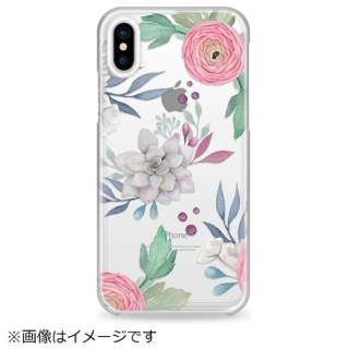 iPhone X用 Snap Case CTF-4154085-411600 Flower Design