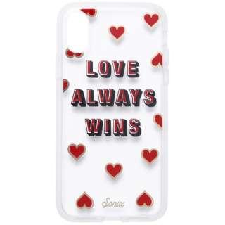 iPhone X用 CLEAR COAT 276-0141-0111 LOVE WINS