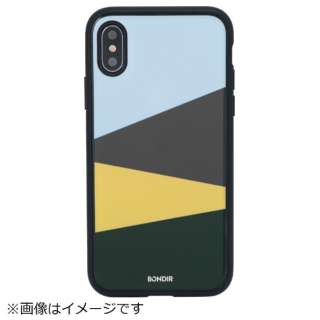 iPhone X用 BONDIR CLEAR COAT 276-011-BND COLOR BLOCK