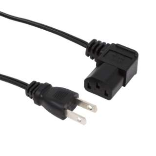 AC電源ケーブル 極細L型タイプ 0.5m ACP-05L-BK