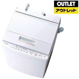 【アウトレット品】 AW-8D6-W 全自動洗濯機 ZABOON(ザブーン) グランホワイト [洗濯8.0kg /乾燥機能無 /上開き] 【生産完了品】