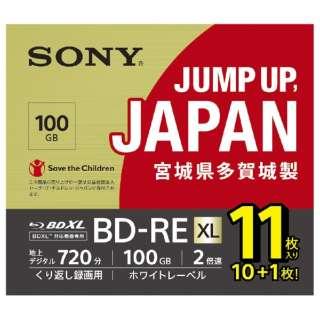 11BNE3VNPS2 録画用BD-RE [11枚 /100GB /インクジェットプリンター対応]