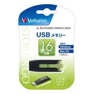 USBNV16GG-B USBメモリ [16GB /USB2.0 /USB TypeA /スライド式]