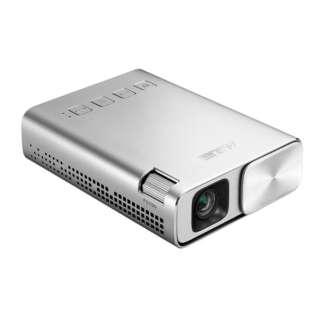ZenBeam E1-J ポケット LED プロジェクター(小型ミニ/150ルーメン/6000mAhバッテリー内蔵/5時間の投影時間/パワーバンク/ HDMI MHL対応) E1-J シルバー