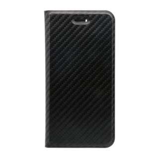 iPhone 8 / 7 6s 6用 カーボン調手帳型ケース STD OWL-CVIP7S05-BK ブラック