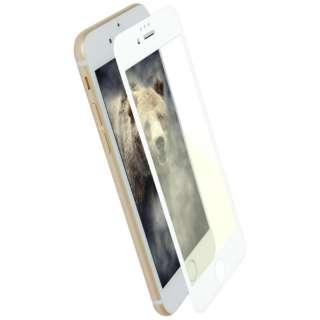 iPhone 8 / 7 6s 6用 目にやさしい ブルーライトカット 全面保護 耐衝撃ガラス OWL-GTIP7SF-WBC ホワイト