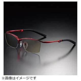 G-SQUAREアイウェア Casual Model ナイロール C2FGEN4RENP9034 フレーム:レッド、レンズ:ブラウン