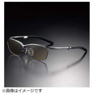G-SQUAREアイウェア Casual Model フルリム C2FGEF4SVNP9324 フレーム:シルバー、レンズ:ワインレッド