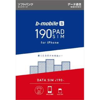 BS-IPN-PSDN b-mobile S 190PadSIM for iPhone(ナノSIMパッケージ)