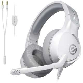 HS-G01WH ゲーミングヘッドホン ホワイト [φ3.5mmミニプラグ /両耳 /ヘッドバンドタイプ]