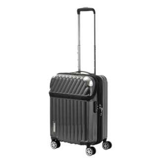 スーツケース 35L(43L) TRAVERIST(トラベリスト)MOMENT(モーメント) カーボンブラック 76-20291 [TSAロック搭載]