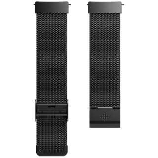 Fitbit フィットビット Versa 専用 純正 交換用 ステンレス リストバンド MetalMesh Black メタルメッシュブラック ワンサイズ FB166MMBK