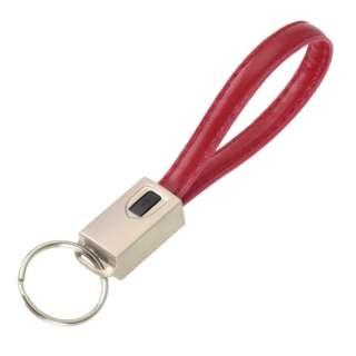 [micro USB]E6863キーホルダーケーブルα レッド [0.2m]