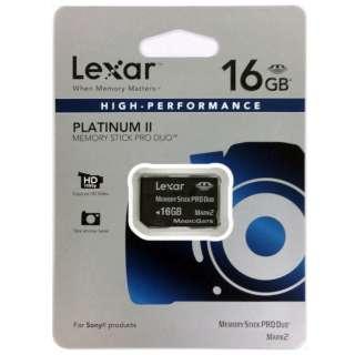 メモリースティックPRO Duo Lexar PLATINUM II LMSPD16GBBBAS [16GB]