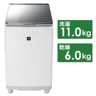 ES-PU11C-S 縦型洗濯乾燥機 シルバー [洗濯11.0kg /乾燥6.0kg /ヒーター乾燥 /上開き]