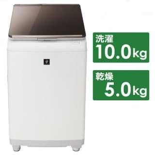 ES-PU10C-T 縦型洗濯乾燥機 ブラウン [洗濯10.0kg /乾燥5.0kg /ヒーター乾燥 /上開き]