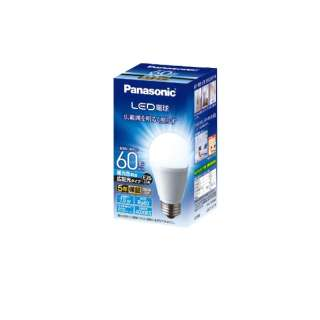 LED電球(一般電球形[広配光タイプ]・全光束810lm/昼光色相当・口金E26) LDA7DGEW [E26 /昼光色]