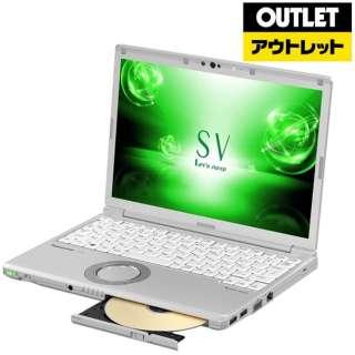 【アウトレット品】 12.1型ノートPC[Win10 Pro・Core i5・SSD 256GB・メモリ 8GB・Nano SIM対応・Office Home & Business] レッツノート SV【LTE対応 SIMフリー】 CF-SV7LFGQR シルバー 【外装不良品】