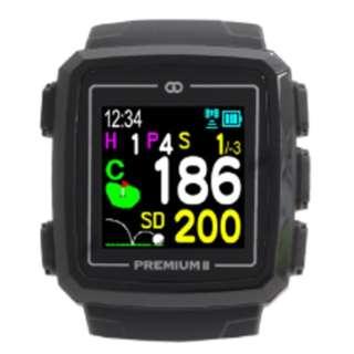 GPSゴルフナビゲーション ザ・ゴルフウォッチプレミアムII(ブラック) G014B