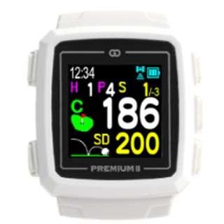 GPSゴルフナビゲーション ザ・ゴルフウォッチプレミアムII(ホワイト) G014W