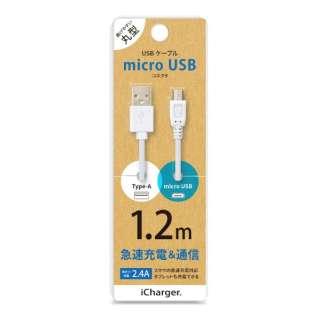 [micro USB] ケーブル 1.2m ホワイト PG-MUC12M02 1.2m ホワイト [1.2m]