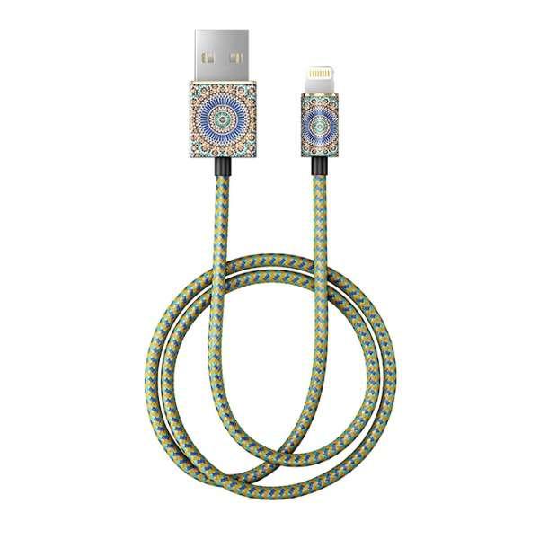 MFIライトニングケーブル 充電通信 モロッカン ゼリージュ IDFCL-54 [1.0m]