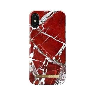 iPhone X用ケース スカーレットレッドマーブル IDFCS18-I8-71