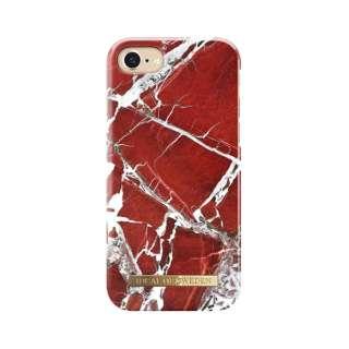 iPhone 8/7/6S/6用ケース スカーレットレッドマーブル IDFCS18-I7-71