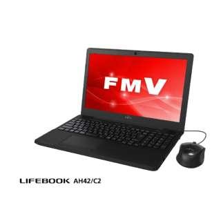 FMVA42C2B ノートパソコン LIFEBOOK(ライフブック) シャイニーブラック [15.6型 /intel Celeron /HDD:1TB /メモリ:4GB /2018年6月モデル]