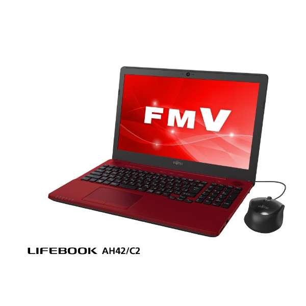 FMVA42C2R ノートパソコン LIFEBOOK(ライフブック) ルビーレッド [15.6型 /intel Celeron /HDD:1TB /メモリ:4GB /2018年6月モデル]