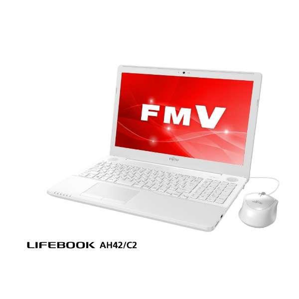 FMVA42C2W ノートパソコン LIFEBOOK(ライフブック) プレミアムホワイト [15.6型 /intel Celeron /HDD:1TB /メモリ:4GB /2018年6月モデル]