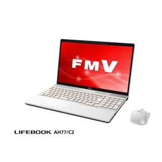 FMVA77C2W ノートパソコン LIFEBOOK(ライフブック) プレミアムホワイト [15.6型 /intel Core i7 /HDD:1TB /SSD:128GB /メモリ:8GB /2018年7月モデル]