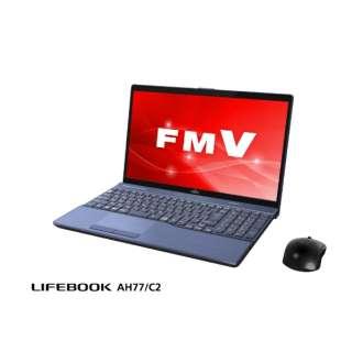 FMVA77C2L ノートパソコン LIFEBOOK(ライフブック) メタリックブルー [15.6型 /intel Core i7 /HDD:1TB /SSD:128GB /メモリ:8GB /2018年7月モデル]