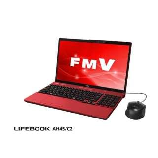 FMVA45C2R ノートパソコン LIFEBOOK(ライフブック) ガーネットレッド [15.6型 /intel Core i3 /HDD:1TB /メモリ:4GB /2018年7月モデル]