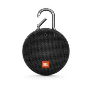 JBLCLIP3BLK ブルートゥース スピーカー ブラック [Bluetooth対応 /防水]