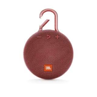 JBLCLIP3RED ブルートゥース スピーカー レッド [Bluetooth対応 /防水]