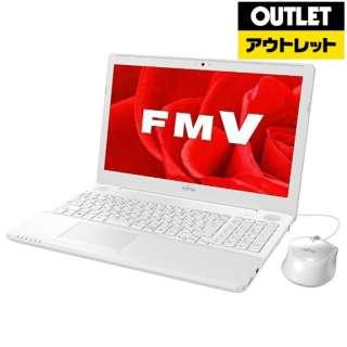 【アウトレット品】 FMVA42B3W ノートパソコン LIFEBOOK(ライフブック) [15.6型 /intel Celeron /HDD:1TB /メモリ:4GB /2017年11月モデル] 【外装不良品】