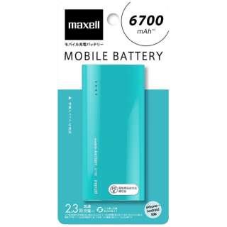 MPC-C6700P モバイルバッテリー ミントグリーン [6700mAh /1ポート /microUSB /充電タイプ]