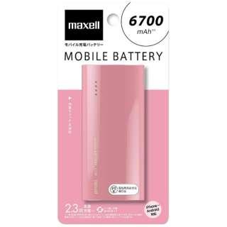 MPC-C6700P モバイルバッテリー ピンク [6700mAh /1ポート /microUSB /充電タイプ]