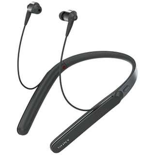 ≪海外仕様≫ブルートゥースイヤホン カナル型 ブラック WI-1000XBME [ハイレゾ対応 /リモコン・マイク対応 /ワイヤレス(ネックバンド) /Bluetooth /ノイズキャンセリング対応]