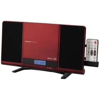 SDB-4339 CDラジオ レッド [Bluetooth対応 /ワイドFM対応]