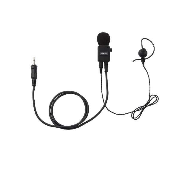 ヘビーデューティータイピンマイク&イヤホン 耳かけカナル型 SSM58BTA 黒
