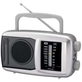SAD-7222 ホームラジオ シルバー [AM/FM /ワイドFM対応]