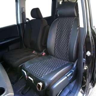 MQ-9961 キルティングメッシュ 前席用シートカバー ブラック/グレー 1枚入り