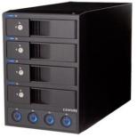 HDDケース 3.5インチ 4台[USB3.0/SATA・Mac/Win] 裸族の4 in 1ルーム CRPR35E4U3IS ブラック