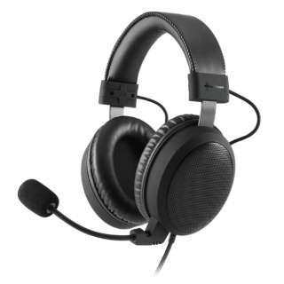 SHA-DS-B1 ヘッドセット Sharkoon ジェットブラック [φ3.5mmミニプラグ /両耳 /ヘッドバンドタイプ]