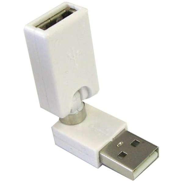 [USB-A オス→メス USB-A]アダプタ GM-UH006W ホワイト