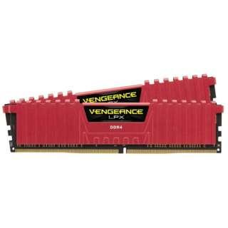 増設メモリ Vengeance LPXシリーズ レッド 16GB 8GB×2枚組 CMK16GX4M2A2666C16R [DIMM DDR4 /8GB /2枚]