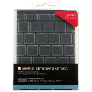 キースキン MacBook Air/Pro 13&15インチ キーボードカバー BEFiNE BF7412 クリア