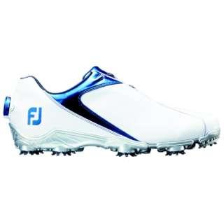 25.0cm/靴幅:3E メンズ ゴルフシューズ FJ SPORT Boa(White×Blue) #53144